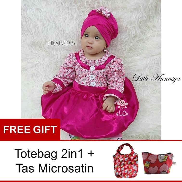 Beli Elbi Baju Pesta Anak Bayi Blooming Dress Pink Elbi Asli