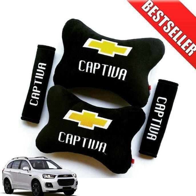 Bantal Mobil Chevrolet CAPTIVA Hitam - 2 in 1 (Car Seat Sandaran Jok Mobil)