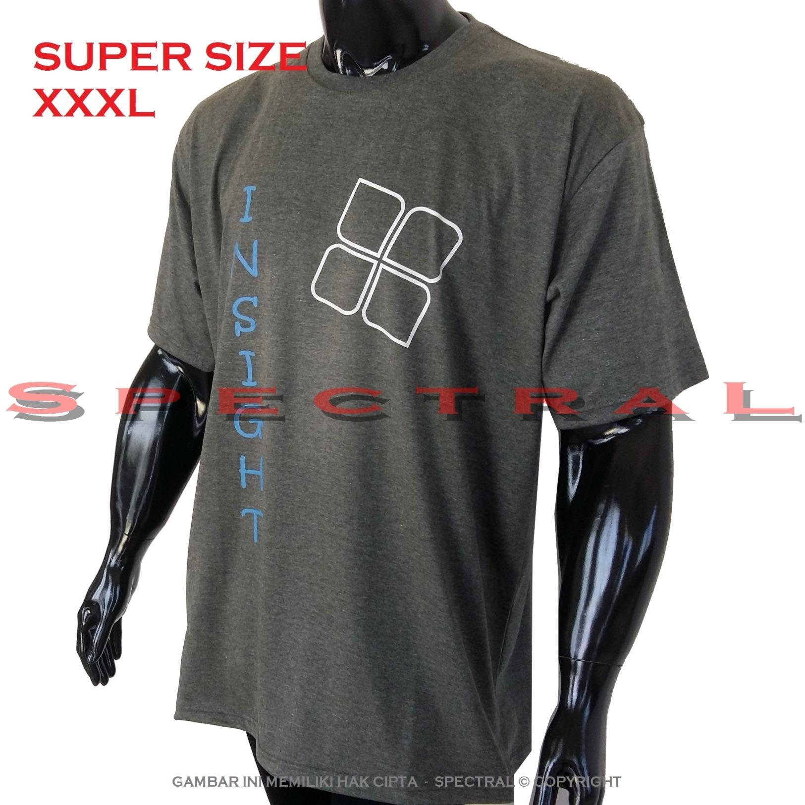Spectral – 3XL SUPER BIG SIZE XXXL 100{55e037da9a70d2f692182bf73e9ad7c46940d20c7297ef2687c837f7bdb7b002} Cotton Combed Kaos Distro Jumbo BIGSIZE T-Shirt Fashion Ukuran Besar Polos Celana Atasan Pria Wanita Katun Bapak Orang Tua Gemuk Gendut Simple Sport Casual Halus Baju Cowo Cewe Pakaian Super Size 3L INSIGHT 4 ABUTUA