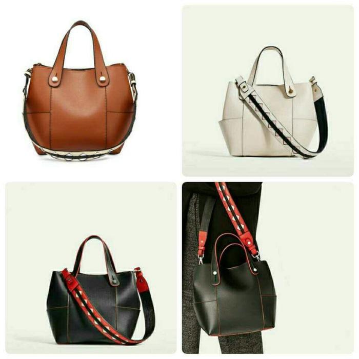 Tas Tote Bag Branded Wanita Cantik Berkelas  TAS ZARA HOBO CERVO DOUBLE STRAP ORIGINAL