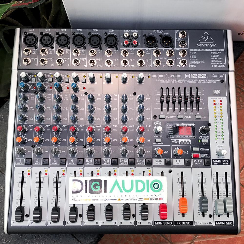 Behringer X1222USB [ X 1222 USB ] Audio Mixer 12 C**nel with Soundcard
