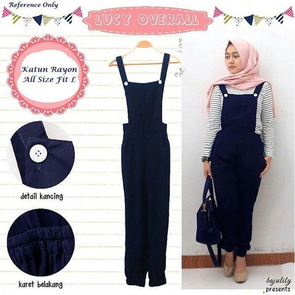 Cek Harga Baru Boston Celana Kodok Wanita Jumsuit Overall Ripped Baju Lucy Pesta Busana Muslim Jumpsuit