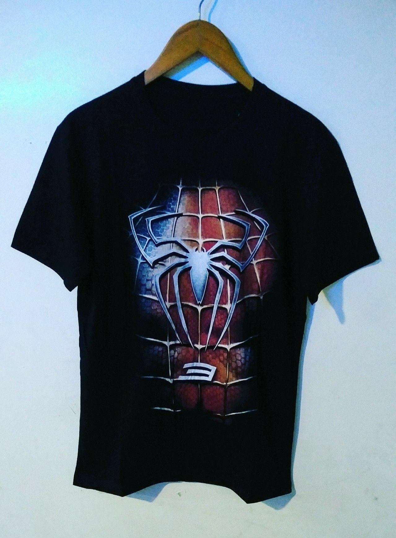 Amazon Distro-kaos distro T-shirt fashion 100% soft cotton combed 30s kaos pria kaos fashion baju distro T-shirt gambar SPIDERMAN  kartun marvel sablon plastisol atasan pria wanita katun simple keren cowok cewek pakaian distro