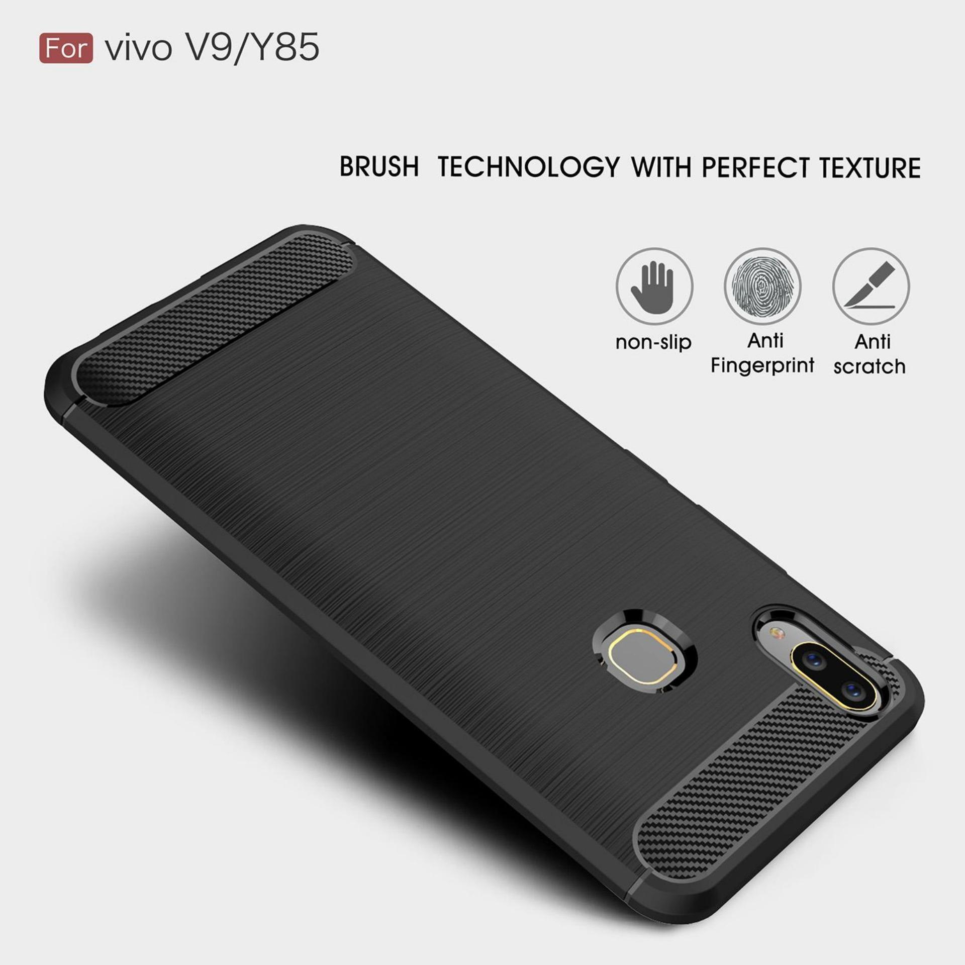 Detail Gambar Lapak Case Carbon Fiber Premium Quality Shockproof TPU for  Vivo V9 - Hitam Terbaru ce4960c154