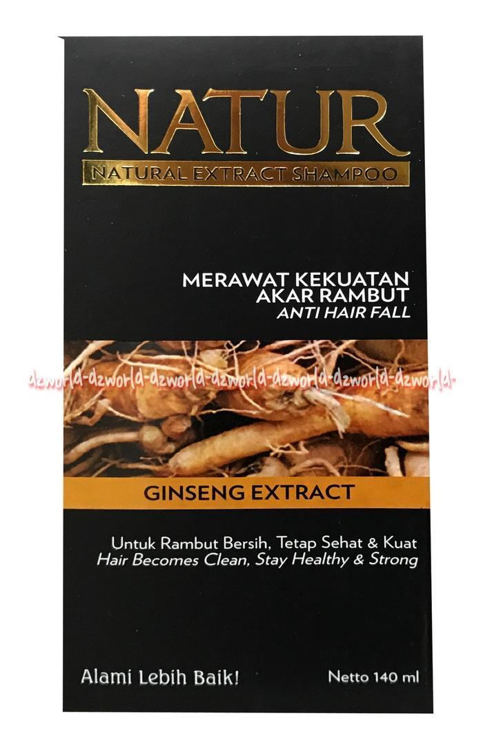 Natur Natural Extract Ginseng Shampoo Shampo Untuk Merawat Akar Rambut