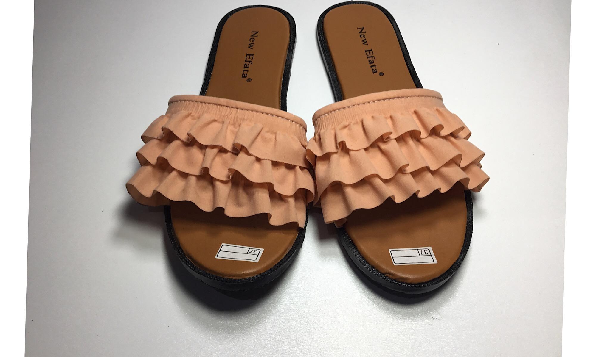 Rafishashoes-Sandal Flat Ruffle-[Salem]