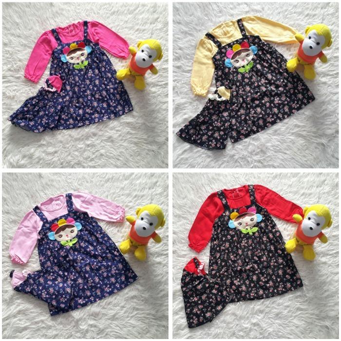 Baju Muslim Gamis Anak Bayi Perempuan Boneka Bunga / baju anak termurah / dress anak terbaru / dress anak keren