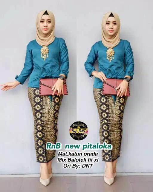 Setelan Blouse Modern / Baju Kebaya Modern / Baju Batik Wanita Modern Terbaru Pitaloka New