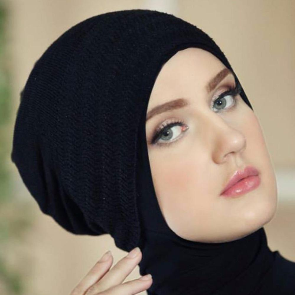 Baby Talk Club EL Ciput Kupluk Hijab Bandana Rajut Satu Warna - Anti Tembem Ciput Kerudung Antem Anpus Inner Kerudung Kerpus Modern Ciput Inner Hijab Aksesoris Perlengkapan Berhijab