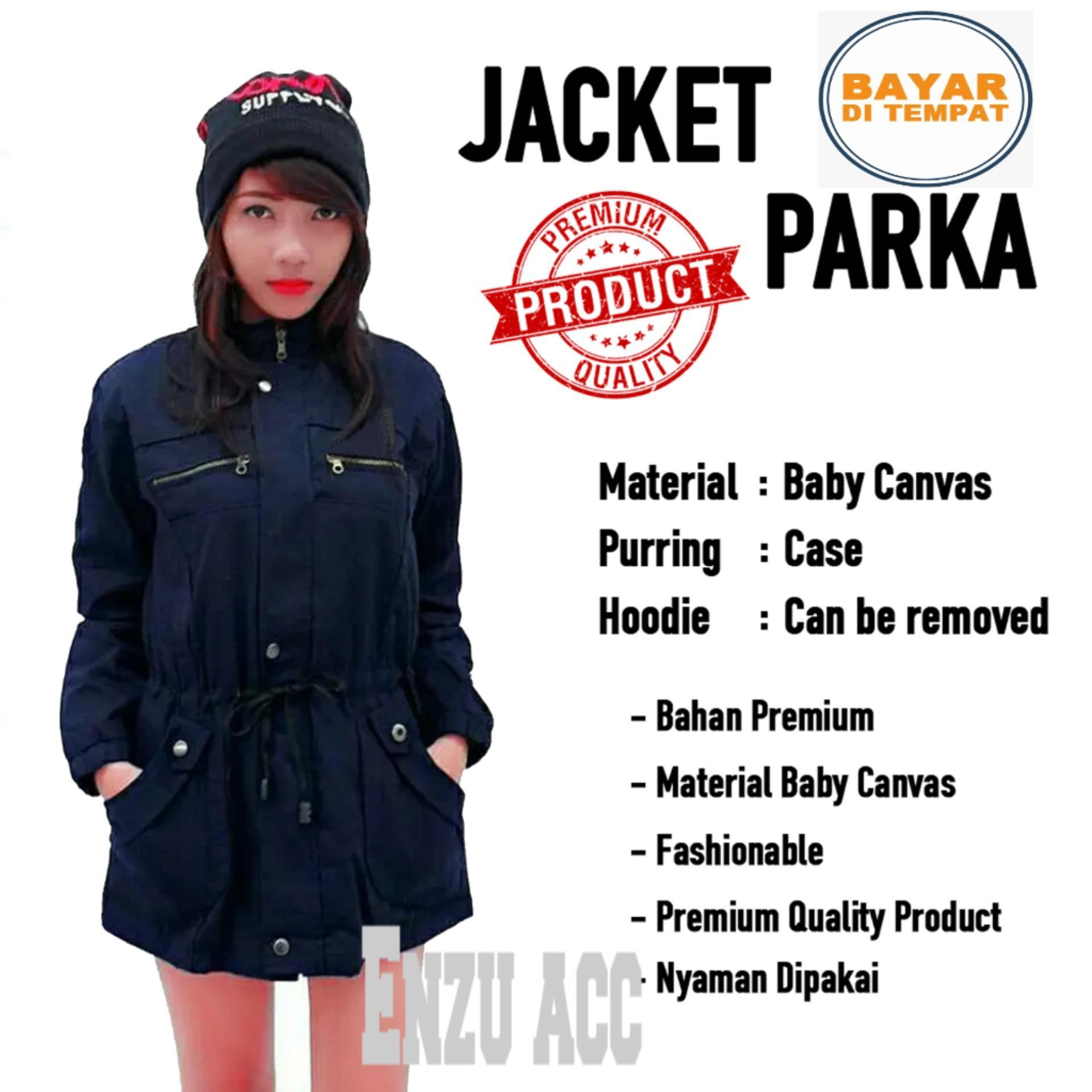 Pusat Jual Beli Enzu Acc Jaket Parka Wanita Baby Canvas Premium Bolak Balik Biru Dongker Dki Jakarta