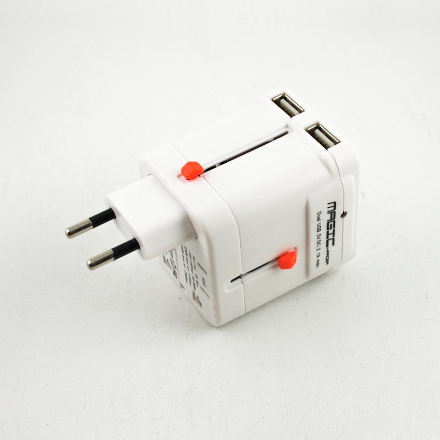 Fitur Delcell Magicharger Multi Nation Travel Plug Adaptor Dual Usb Traveller Charger 21a Port Magic 4