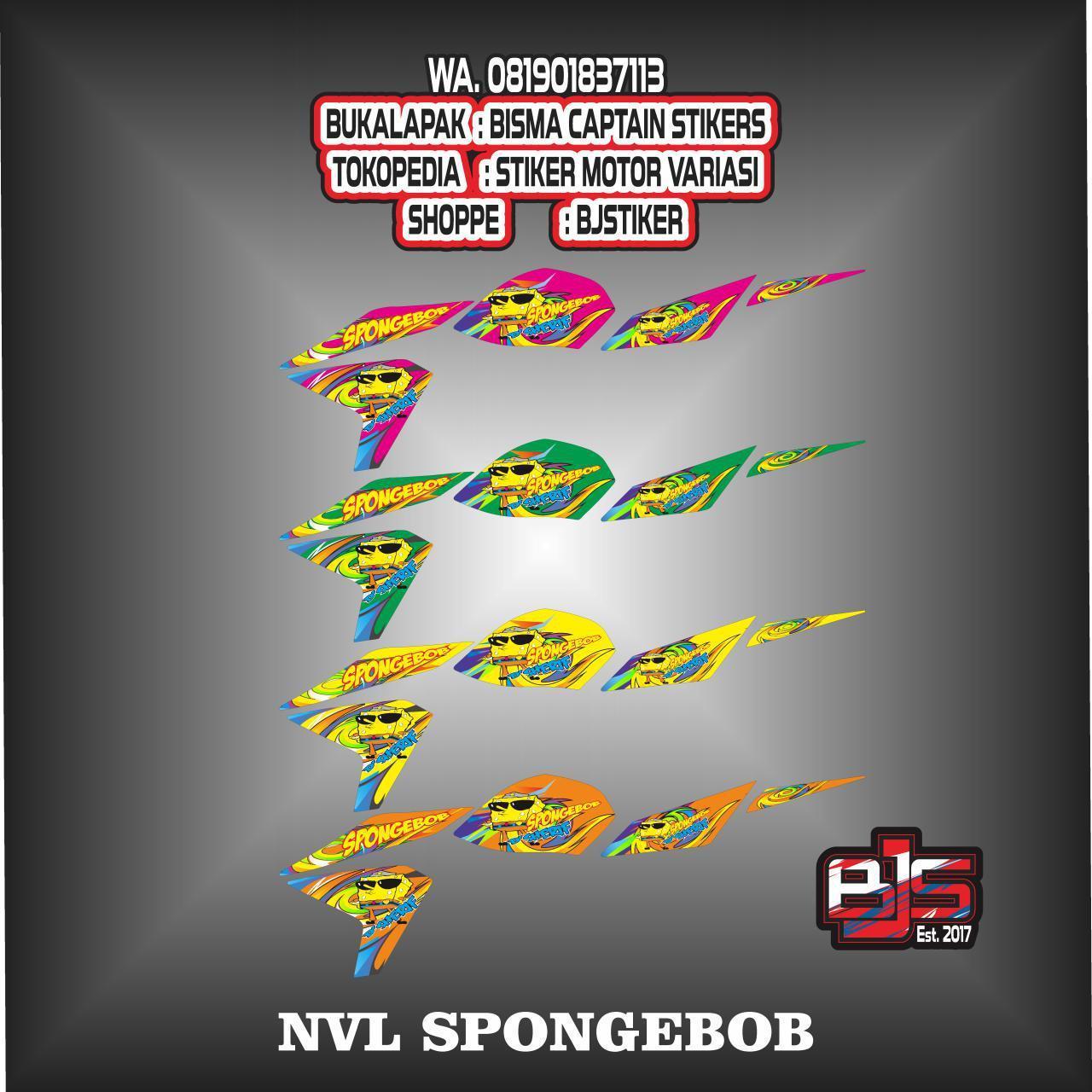 stiker striping list motor new vixion lightning spongebob