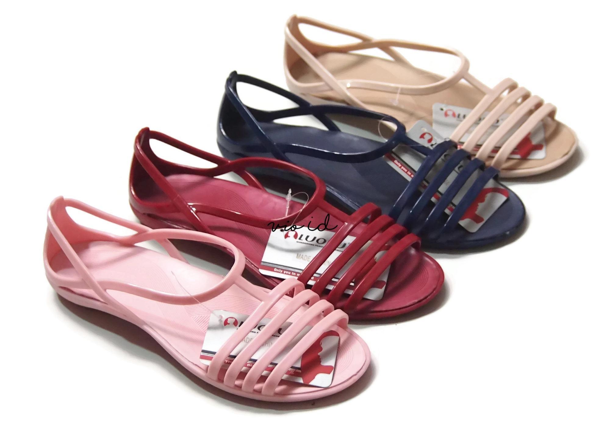 Fitur Sandal Karet Wanita Flat Shoes Sepatu Sendal Cewek Dan Harga