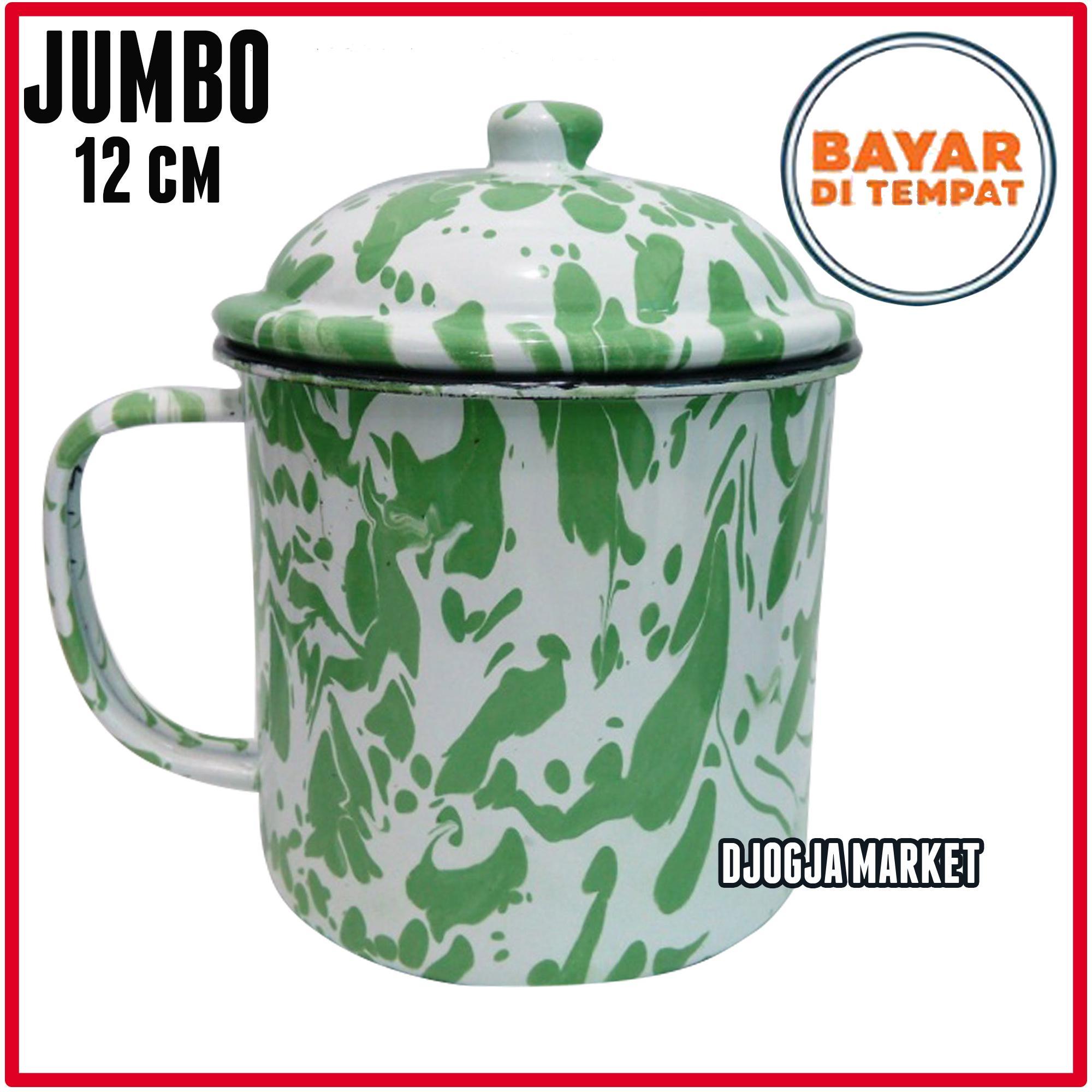 Djogja Market - Gelas Mug Jadul | Mug Blirik | Gelas Blirik enamel 12 cm