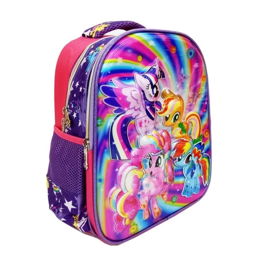 ... SHOPPIES - My Little Pony 5D Timbul Hologram Tas Ransel Anak Sekolah TK Import - Ungu
