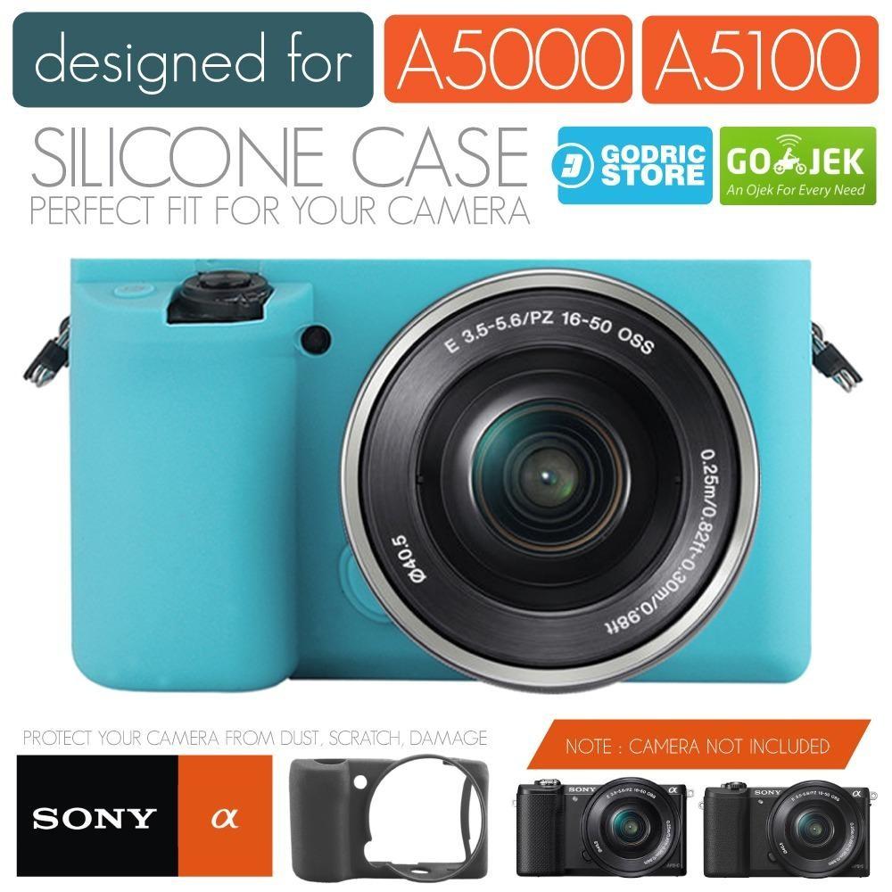 Godric Silicone Sony Alpha A5000 A5100 Silikon Case / Sarung Silicon Kamera Mirrorless - Biru