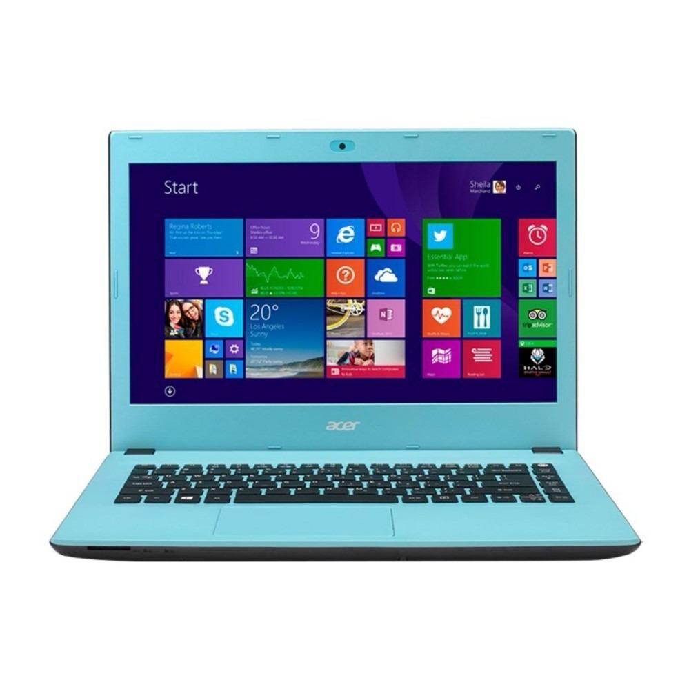 Acer Aspire E5-473-307F Notebook - Blue - 14 Inch - i3-4005U - 2GB - 500GB - Win 8
