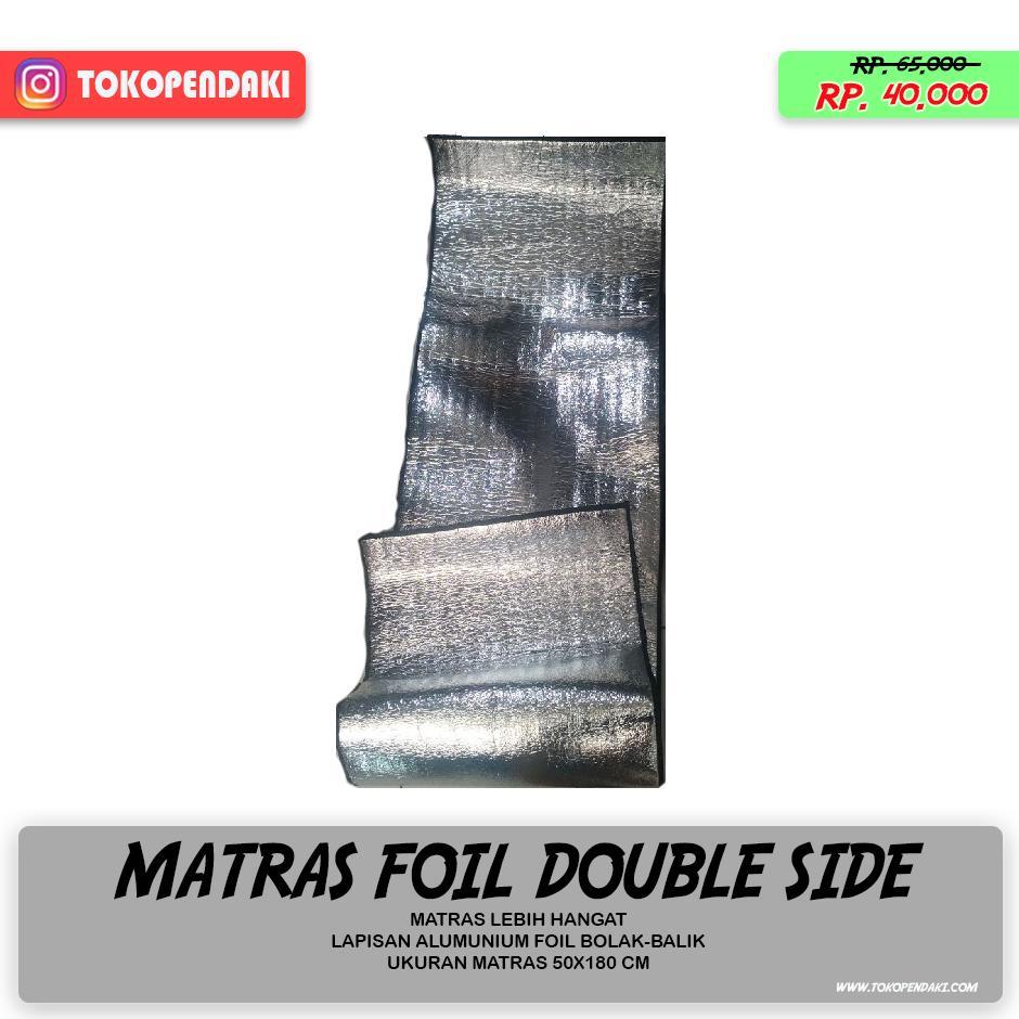 Matras Tikar Camping Bahan Alumunium Foil Double Side 2 Sisi Bolak Balik 50x180 cm