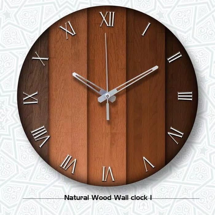 JAM Dinding Kayu Exclusive - Jam Dinding Kayu Unik Artistik - Jam Dinding  Natural Wood 1 0c3383a28e