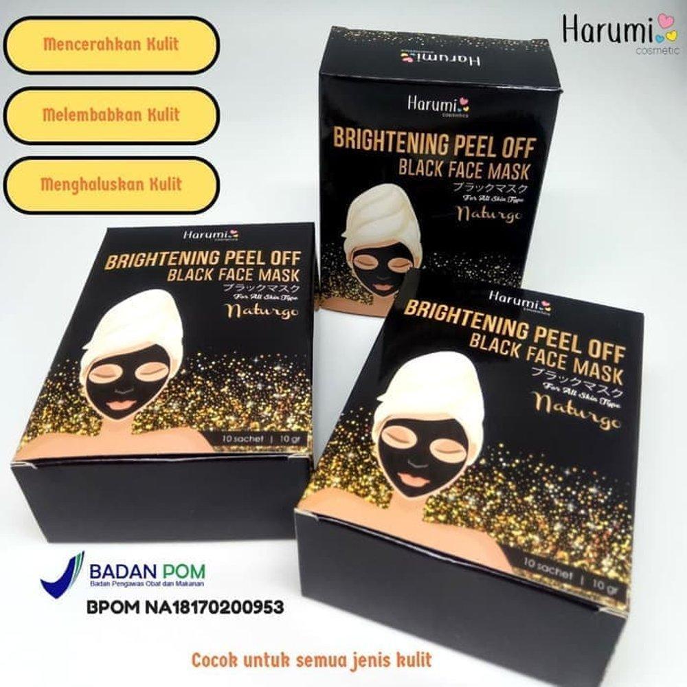 10pcs Black Masker Wajah Muka Komedo Hitam Naturgo Lumpur Spec Dan Lulur Pembersih Face Mask Daftar Source Bpom Harumi