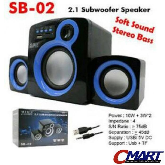 M-TECH Multimedia Speaker 2.1 Aktif Subwoofer Portable Speker - SB-02