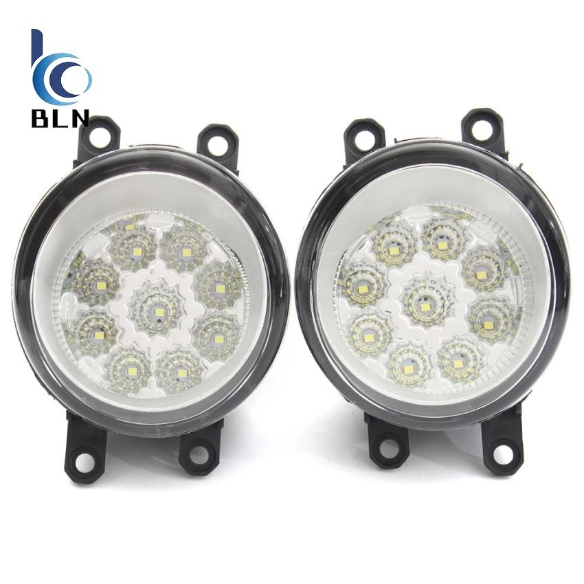 【Bln Auto】Pair 9 Led Front Driving Fog Light Lamp For Toyota Corolla Camry Yaris Vios Rav4 8121006071 Hong Kong Sar Tiongkok Diskon 50