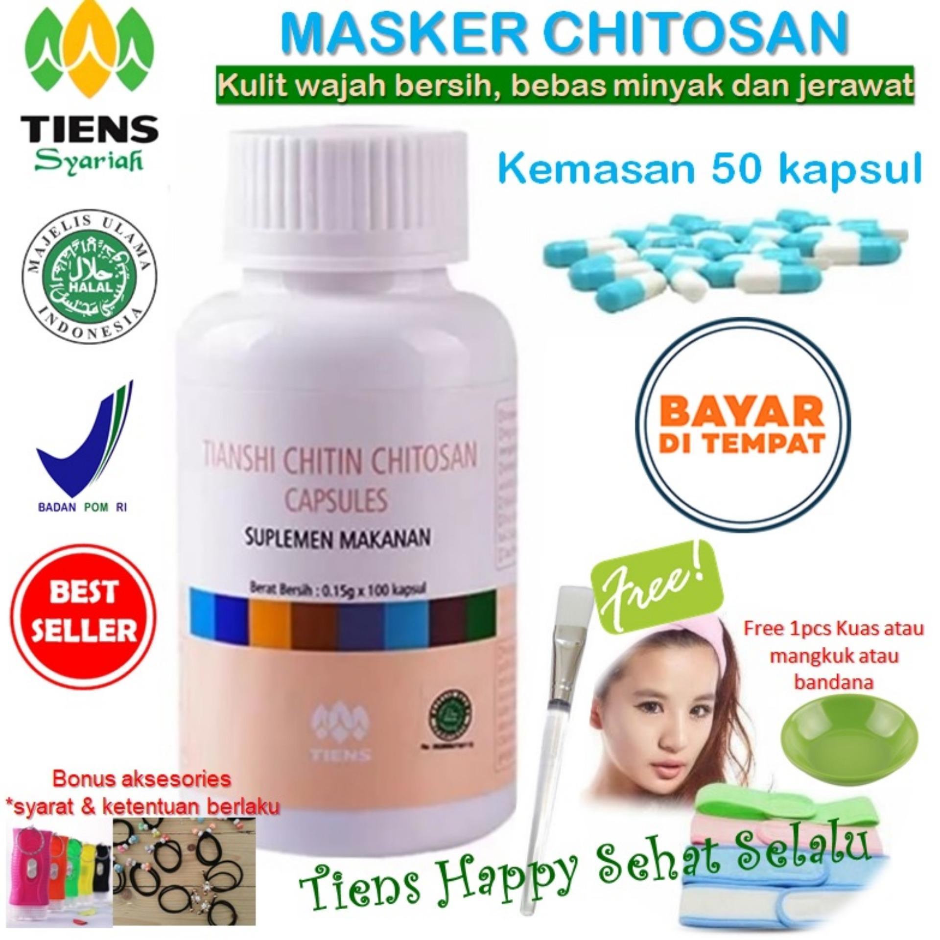Diskon Produk Masker Tiens Chitosan Herbal Anti Jerawat Isi 50 Kapsul Promo