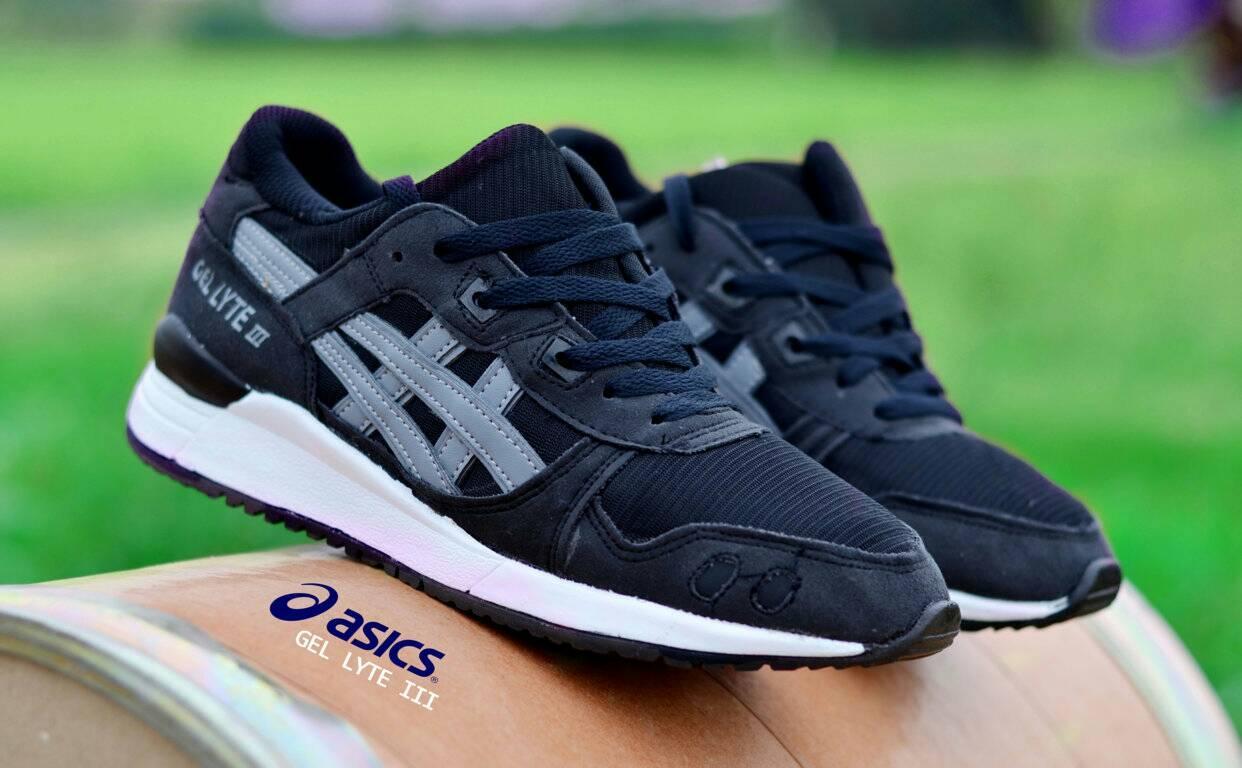 Sepatu Pria Sport Asics Gel Lyte III Black List Grey Terlaris Di LAZADA e8d1eb75c1
