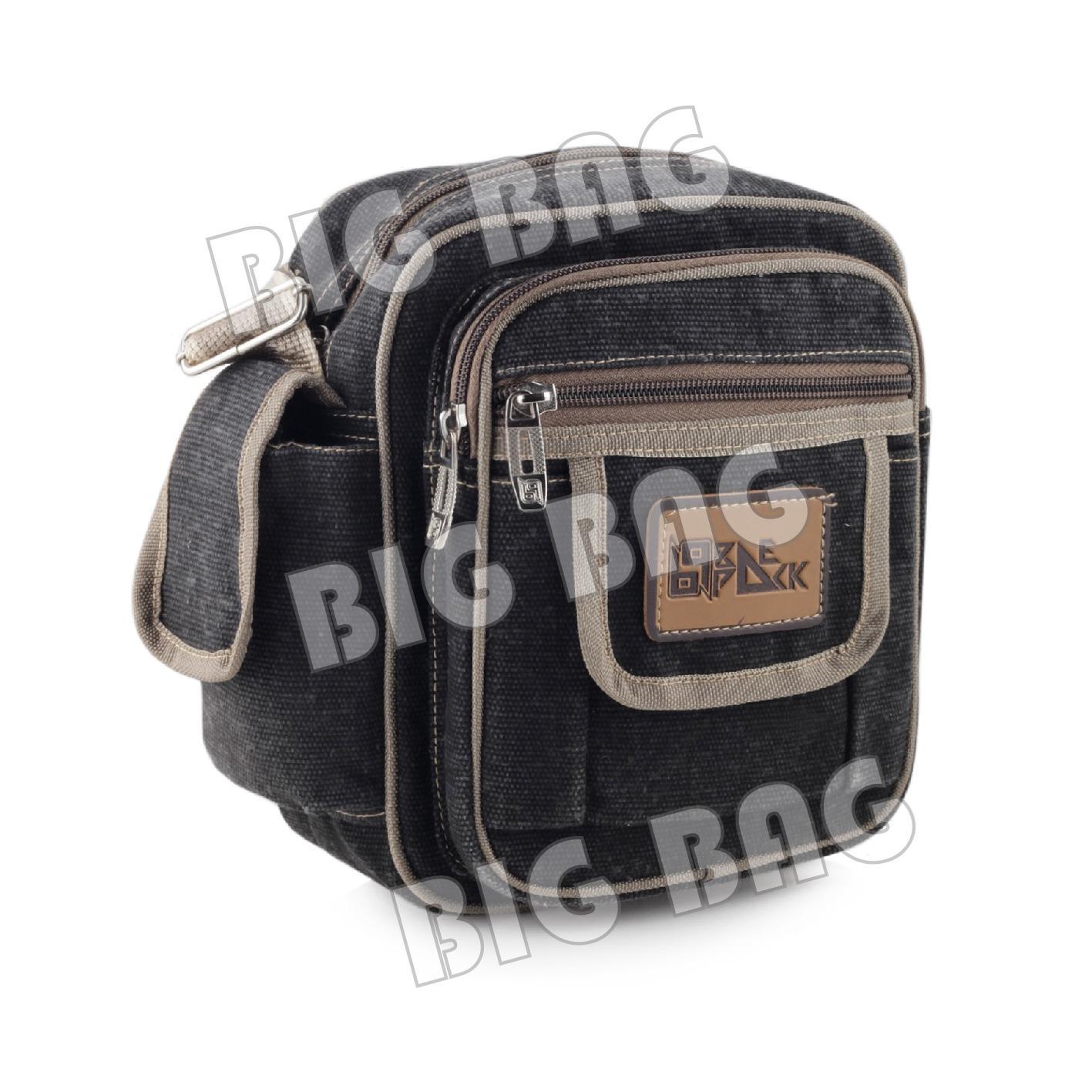 Detail Gambar Tas Selempang Baepack Microsonic Canvas Slingbag - Dark Grey - Tas Messenger Tas Slempang
