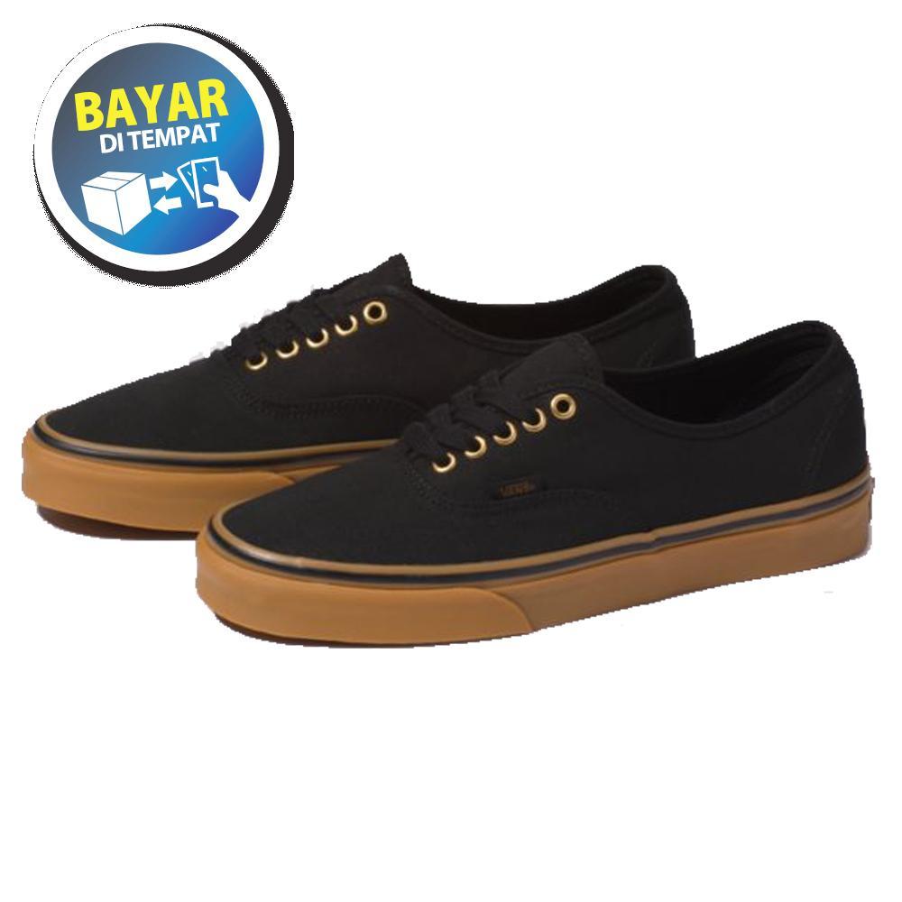 Zacksho Sepatu Vans California Gum Authentic Sneakers casual Black Gum  Sekolah Made In Vietnam Pria dan 6ee4dd6250