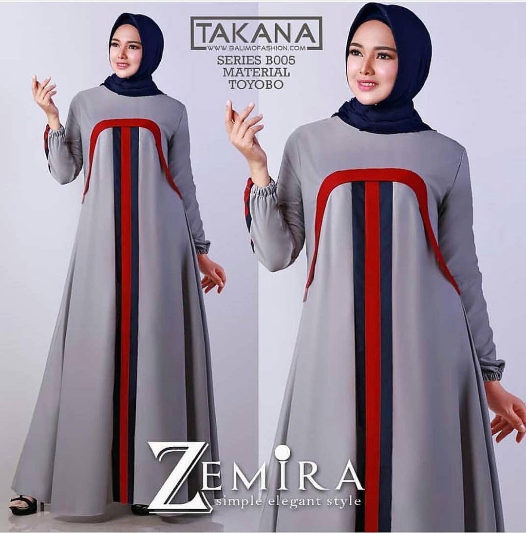 Harga Diskon Baju Murah Terbaru Gamis Zemira Dress Baloteli Gamis