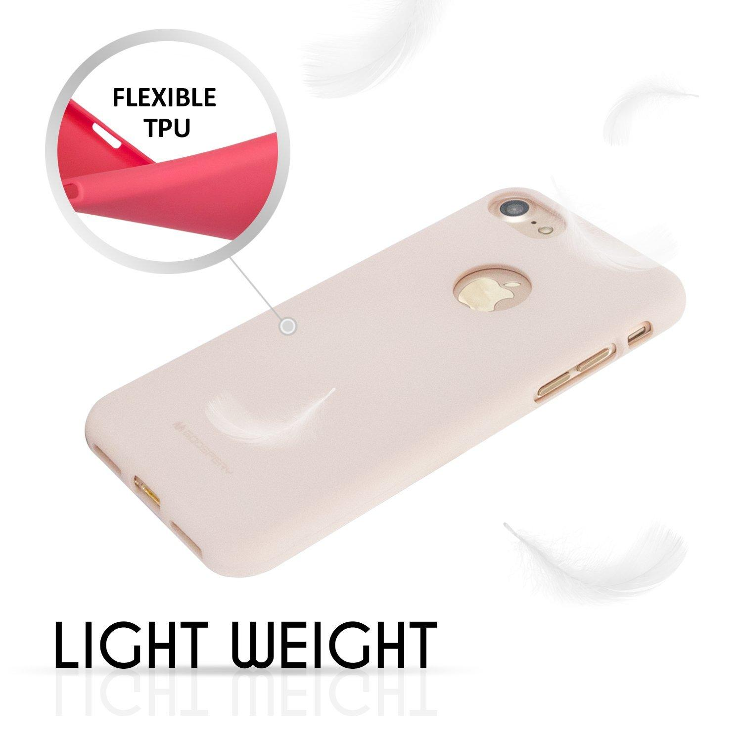 Features Mercury Soft Feeling Tpu Case For Iphone 7 Pink Sand Dan Jelly Lg G6 3