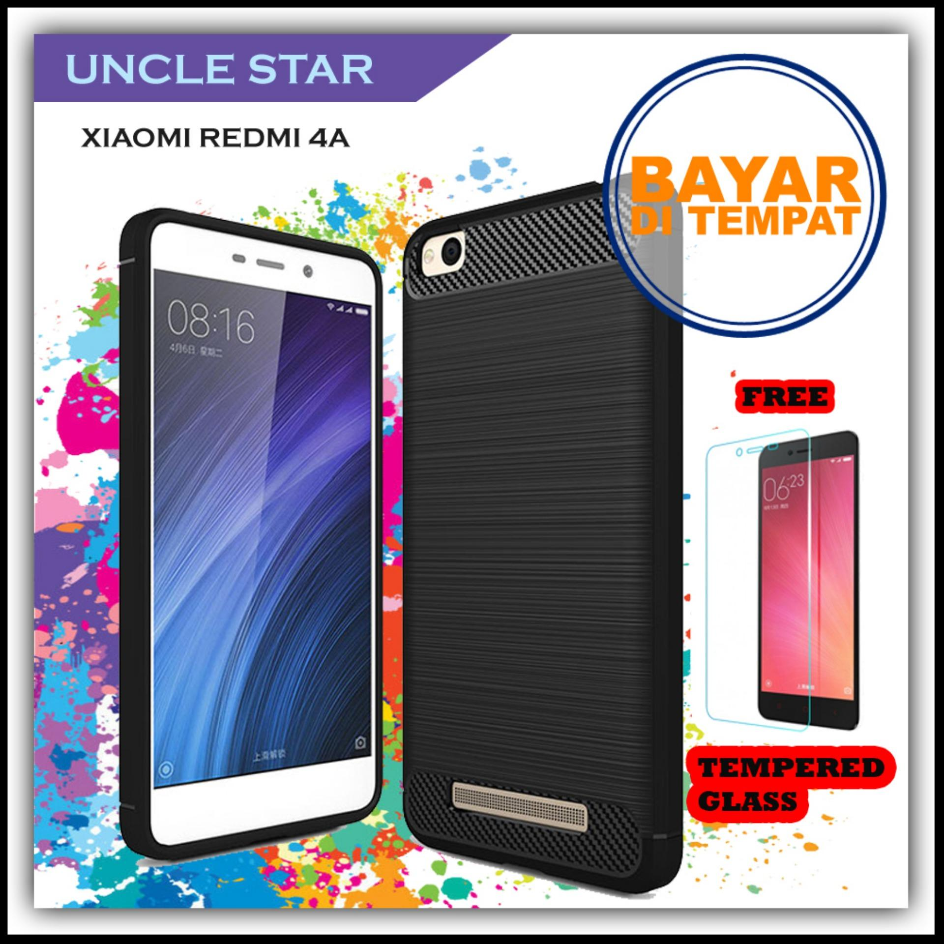 Uncle Star - Case Ipaky Carbon Fiber Shockproof Hybrid Elegant Case for Xiaomi Redmi 4a FREE