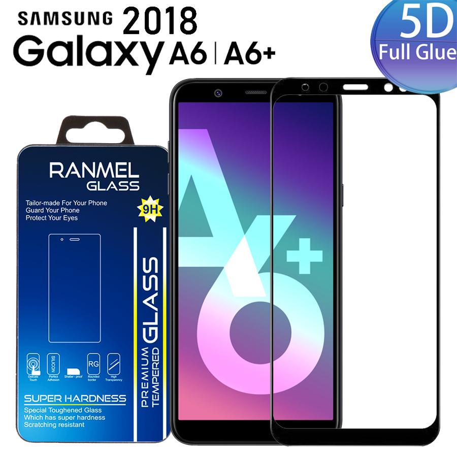 Anti Gores Kaca ( FULL LEM ) For Samsung Galaxy A6 Plus 2018 Full Cover Tempered