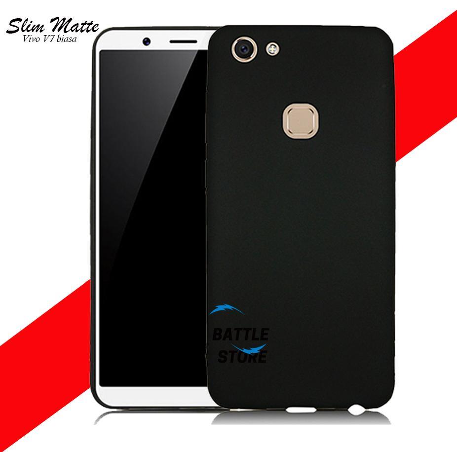 Case Slim Black Matte Vivo V7 Baby Skin Softcase Ultra Thin Jelly Silikon Babyskin - Black
