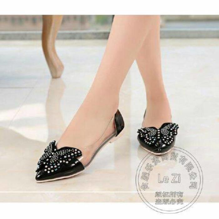 PROMO Sepatu Wanita Flat Shoes Kupu-Kupu SDB81 TERMURAH