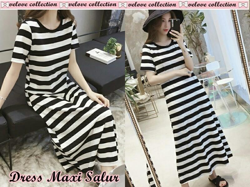 J&C Dress Maxi Salur / Long Dress Spandek / Dress Spandek / Long Dress Korea / Maxi Dress Spandek / Maxi Spandek