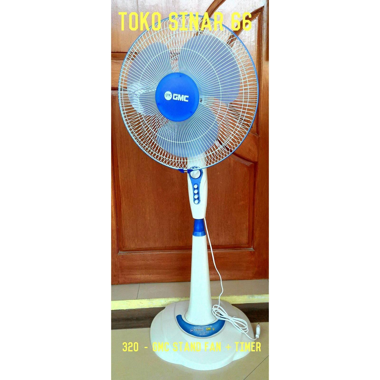 GMC Stand Fan 306/307 + Timer Kipas Angin Berdiri