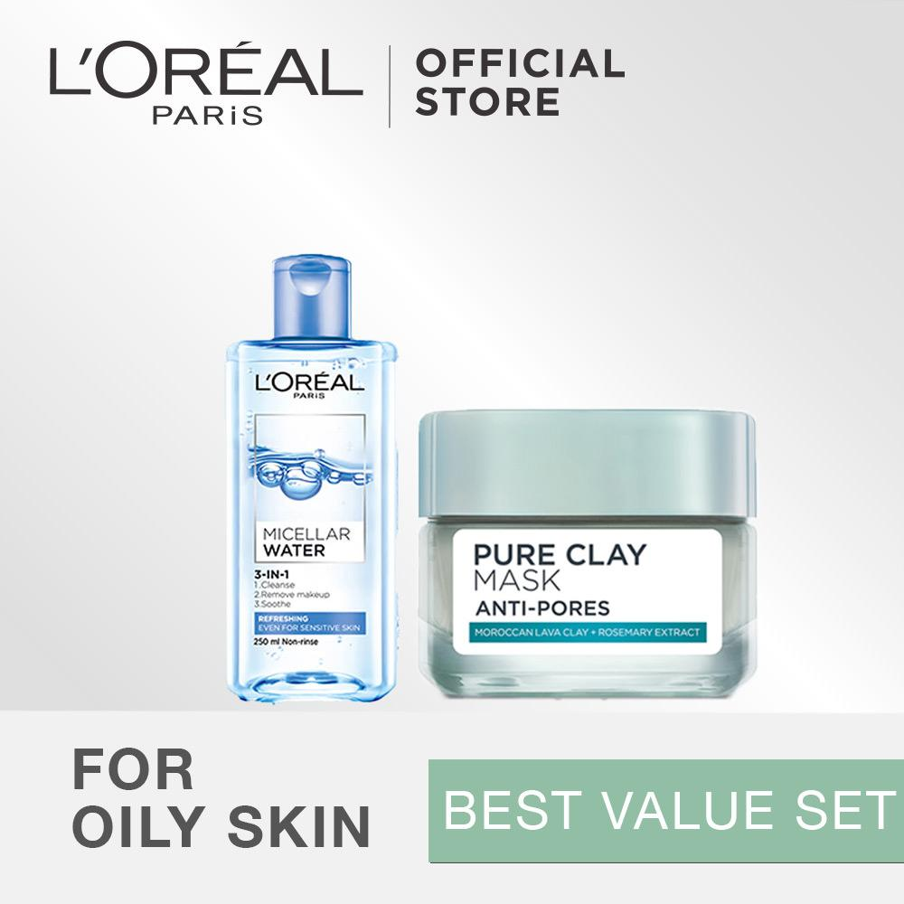 Spesifikasi L Oreal Paris Dermo Expertise Micellar Water Pure Clay Mask Best Value Set Online