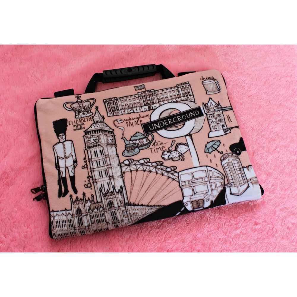 Top 10 London Vintage 13 14 Inchi Softcase Tas Bag Sarung Laptop Macbook Notebook Keren Elegant Online