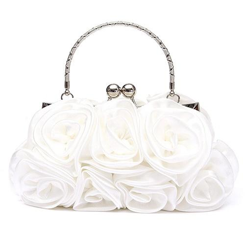 Broadfashion Wanita Fashion Rose Flower pola Clutch Bag malam pesta pengantin tas