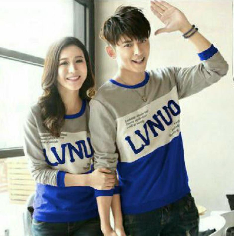 CS - Sweater couple lengan panjang LV N UO / sweater zaman kini / model terbaru
