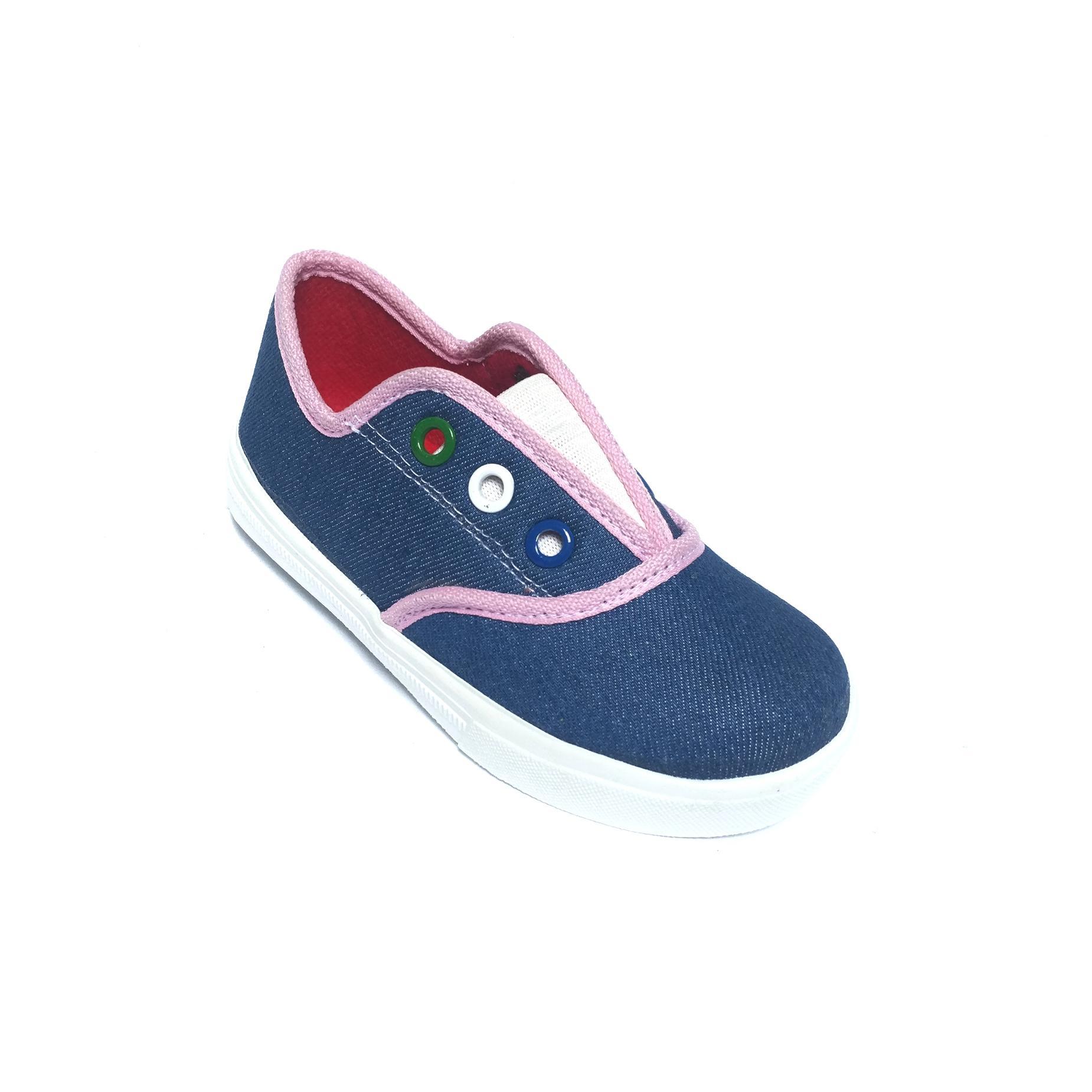 Sepatu anak bayi perempuan slip on jeans