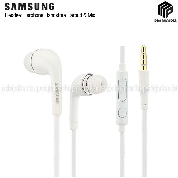 Samsung Handsfree Headset Earphone J5/S4 Cable With Control Volume - White