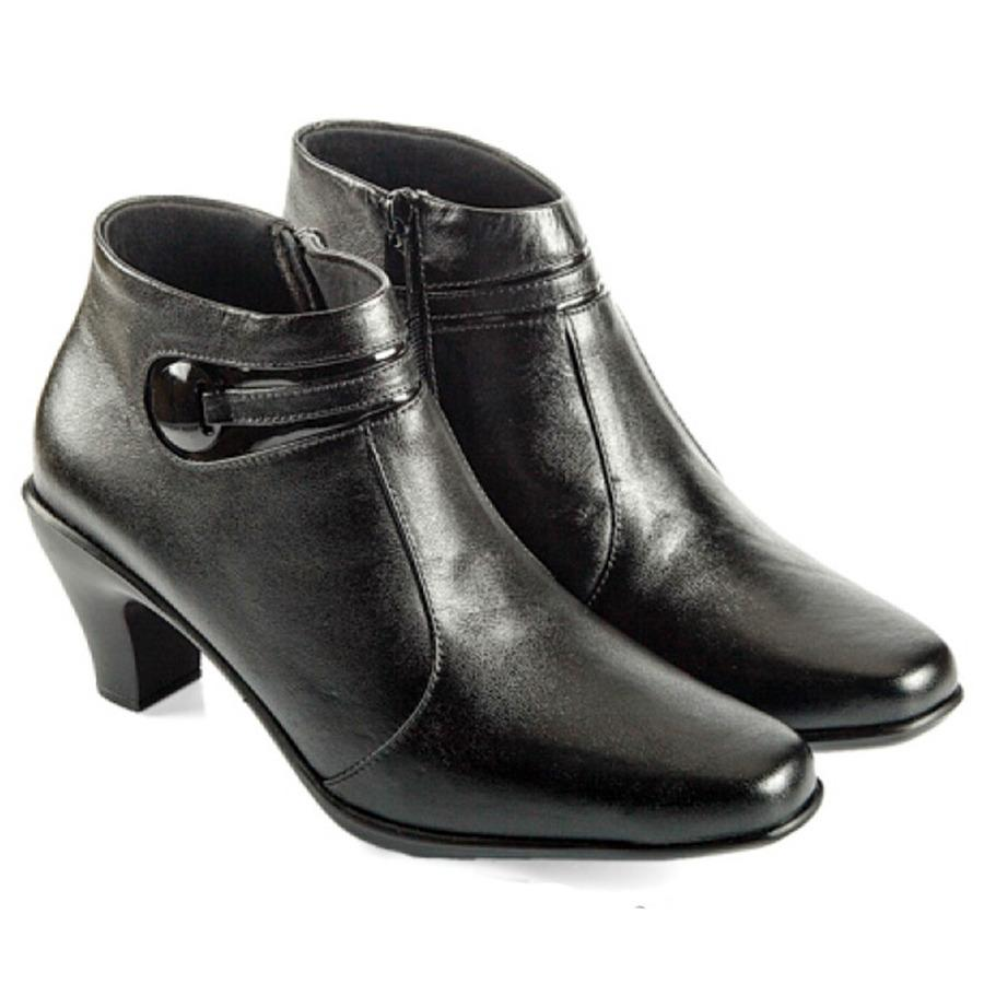 Everflow VDK 3002 Women Fashion Sepatu Kerja Kantor Pantofel Kulit Formal Heels Wanita - Hitam