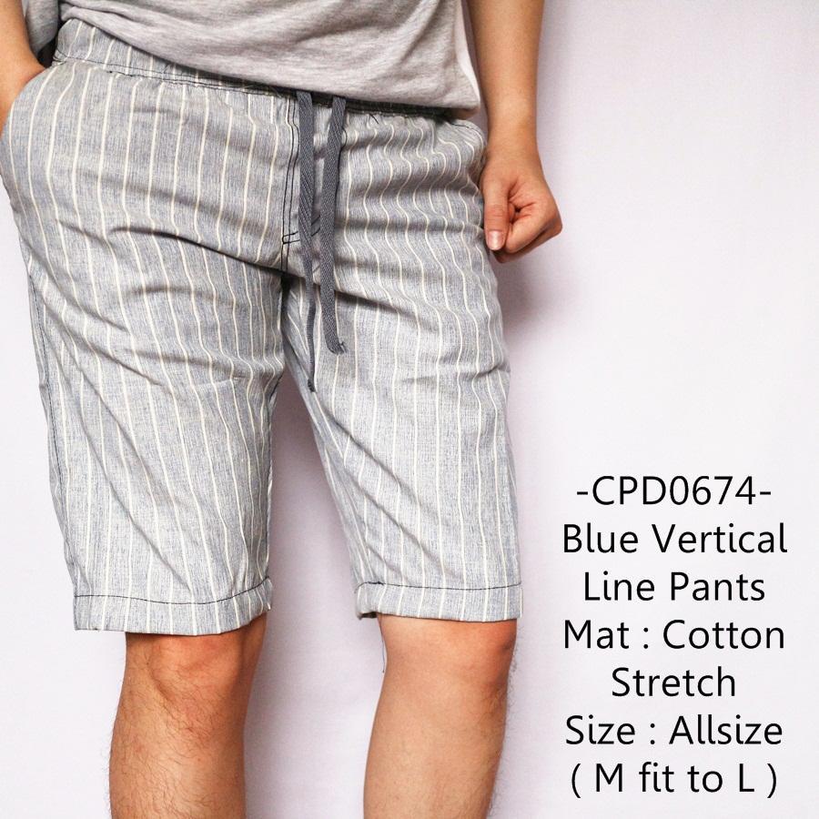 Celana Untuk Batik Pria: Review Idf Celana Pendek Pria Casual Keren Light Blue