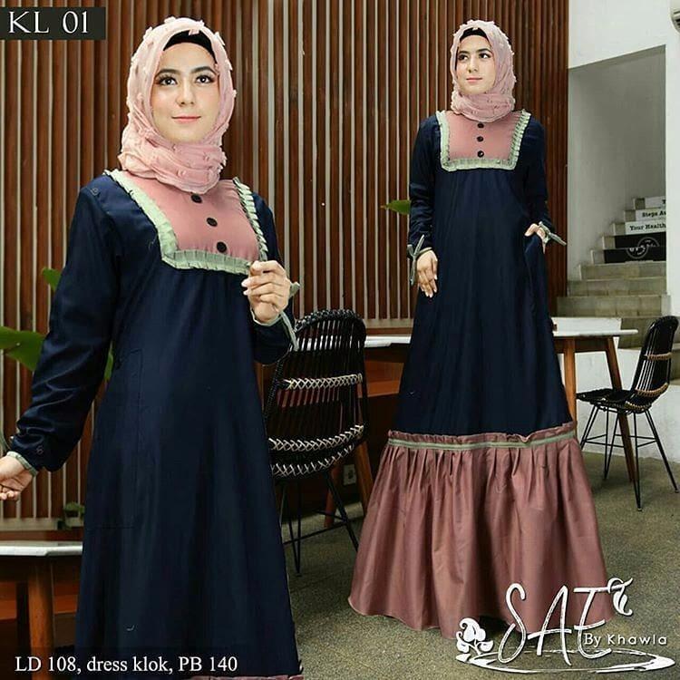 Gamis Safea Dress Balotelly Baju Wanita Panjang Muslim Casual Wanita Pakaian  Hijab Modern Baju Gaun Pesta 13360fb535