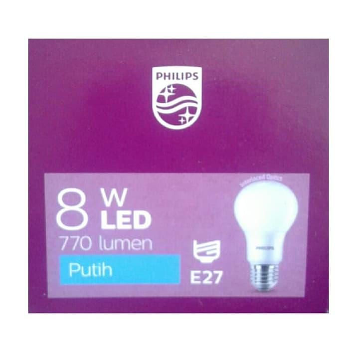 ... 4 Philips Lampu LED 8 Watt - CDL/Putih - 2 Pcs - 5