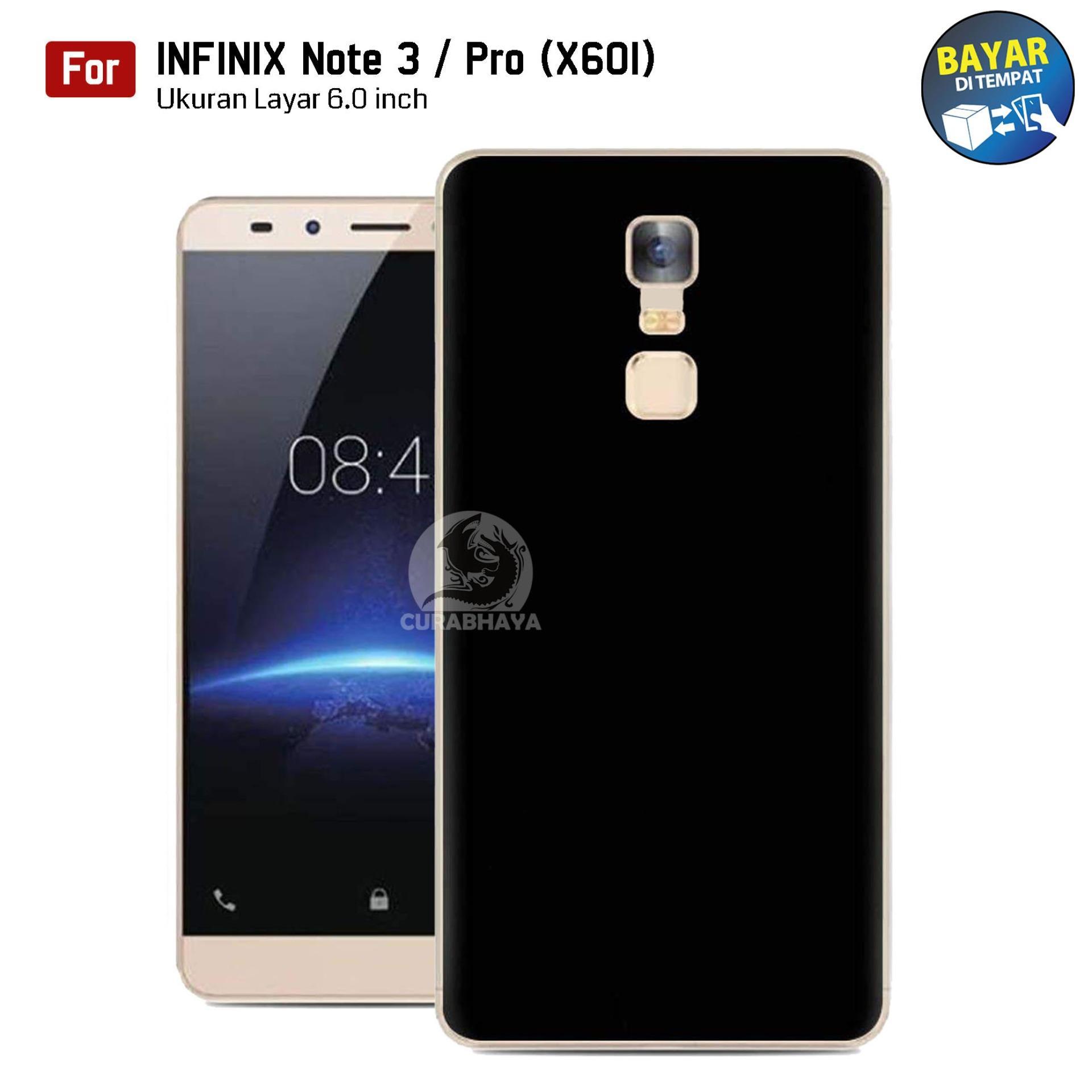 MidNight Infinix Note 3 Pro (X601) | Slim Case Black Matte Softcase Premium Baby