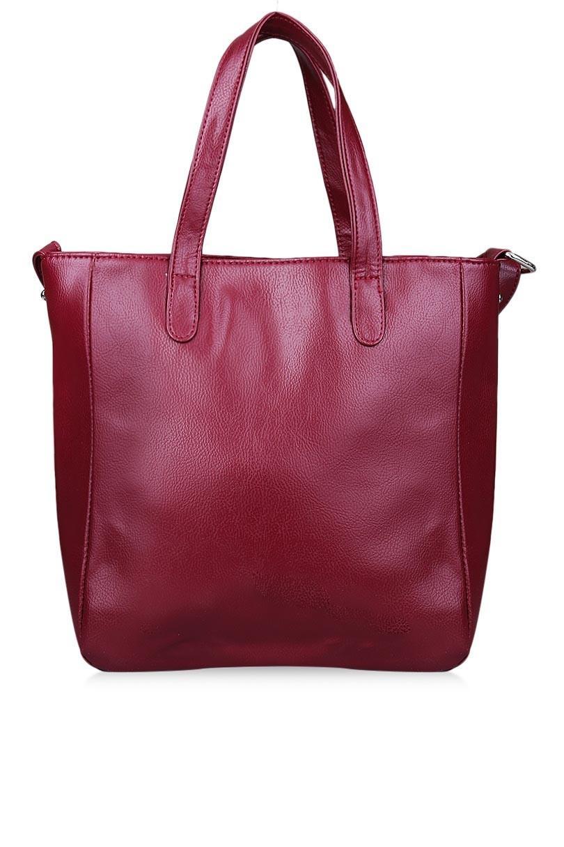 Tas Wanita Tote Bag Wanita Kasual Elaine 32MR005511 - Maroon - 5